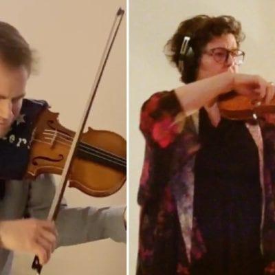 Marc Djokic and Julie Triquet, solo violins of the Orchestre Classique de Montréal and I Musici de Montréal